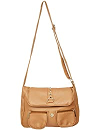 Sling bags for girls (Brown, 109)