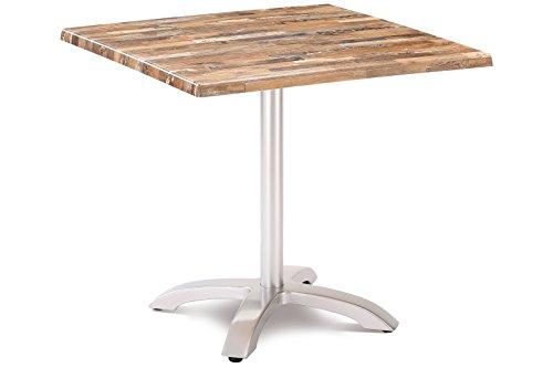 Best Klapptisch Maestro 80x80 cm eckig Silber/Maracaibo Esstisch, Gartentisch, Tisch