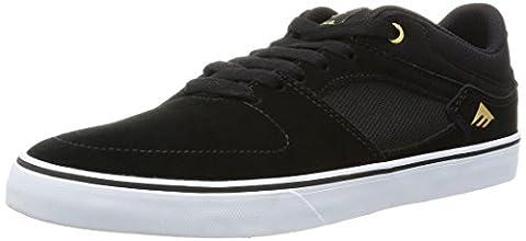 Emerica the Hsu Low Vulc, Chaussures de Skateboard Homme, Noir (Black White 976), 6
