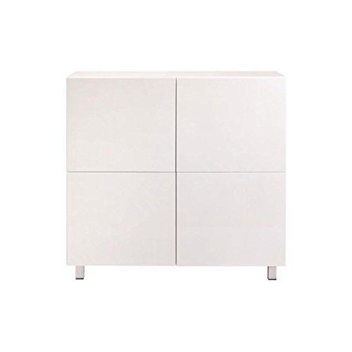 designement Elly Bahut, Bois, Blanc, 100 x 40 x 100 cm