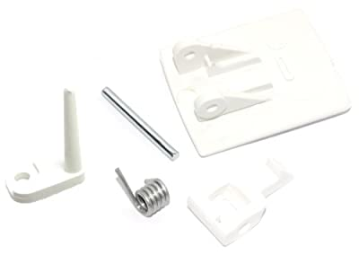 White Knight Baumatic Whirlpool Philips Zanussi Tumble Dryer Door Handle Kit Including Micro Switch Pin, CL311, CL412, TD163, TD45, AWB650BR, BTD1W, BTD600..