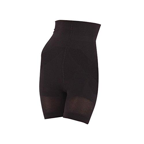 Sveltesse - Panty taille haute minceur - lot de 2 (S - 36/38, Noir)