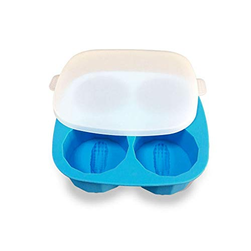 (TianranRT Krokodil Form Eis Gitter Einfrieren Eis Tablett oder Pudding Gelee Hersteller Form Eiswürfel (Blau))