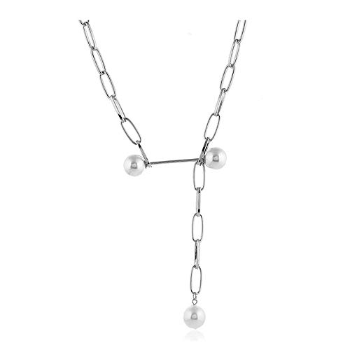 Belle Maison Mode Metall schöne Kette Halskette Europa und Amerika persönlichkeit Big Cross Kette Perle Clavicle Kette Student zubehör