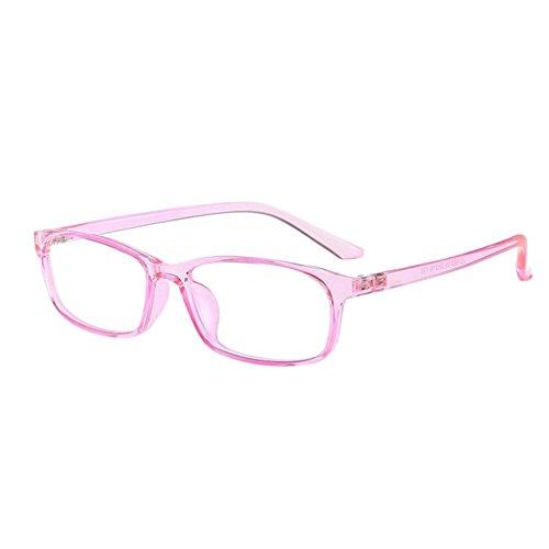 Haodasi Damen Männer Ultraleicht Negativ Stärke Kurzsichtigkeit Brillen Anti-Strahlung Beiläufig Voll Felge Kurzsichtig Hochauflösend Brille (Power -0.5, Rosa) (Diese sind nicht Lesen Brille)