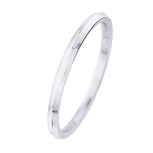 BeBold SardarJi Punjabi Silver Stainless Steel Plain Stripe Kada for Men Boys