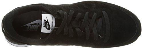 bianco nero Nero Uomo Scuro Internazionalista Pelle Scarpe Sportive Grigio Nero grigio Nike In Bianco OYwqnz