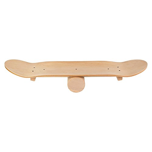 POWRX Balance Board Skate-Board Surf-Board aus Holz I Gleichgewichts-Training Balancierbrett Wackelbrett Balancetrainer