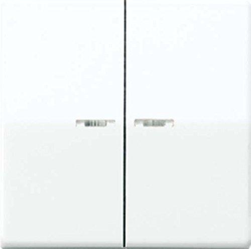 Jung Wippe für Serienschalter und Doppeltaster mit Lichtleiter Serie As Antibakteriell Weiß, 1 Stück, ABAS 591-5 KO5 (Elfenbein Lichtschalter)