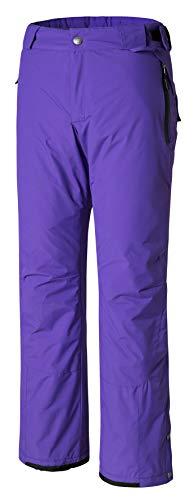 Fleece-trägerhose (Wantdo Damen Outdoor Winddichte Schneeisolierte Fleece Ski Trägerhose Lila Small)