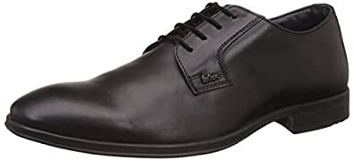 Lee Cooper Men's Black Leather Formal Shoes - 7 UK/India (41 EU)