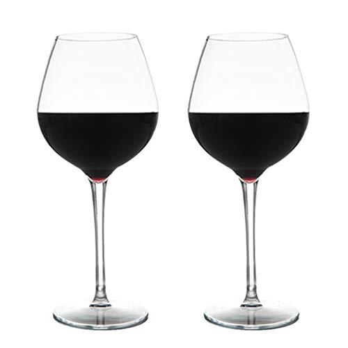 Michley bicchiere da vino grande infrangibile, bicchieri di plastica infrangibile tritan al 100% per campeggio, lavastoviglie sicura 475 ml (17 oz) set di 2