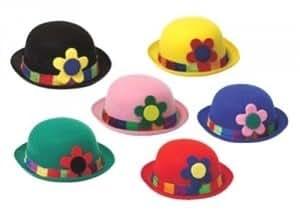 LOT de 2:Chapeau melon Clown 8650910 clown Chapeaux/Coiffes