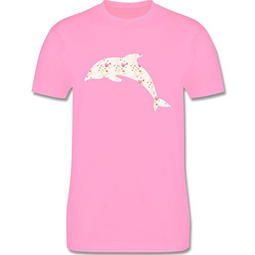 Sonstige Tiere - Delfin Herzen - Herren Premium T-Shirt Rosa