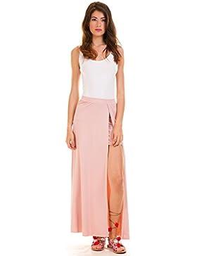 Vila Vimunik Maxi Skirt Rosa
