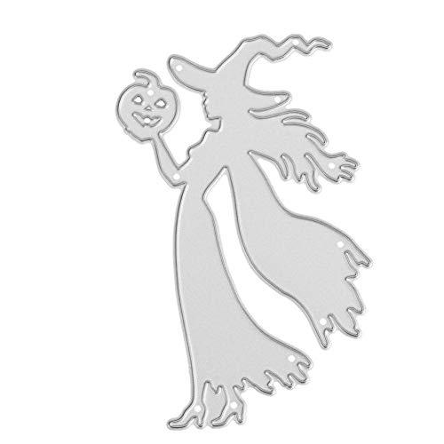 vanpower Halloween Serie Metall Stanzformen Schablonen für DIY Papier Karte Handwerk Scrapbooking Präge Album, MS-485