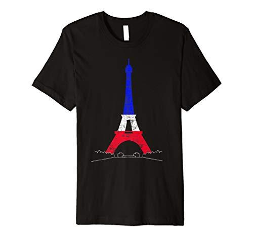 Eiffelturm T-Shirt Paris Frankreich Nationalflagge Souvenir