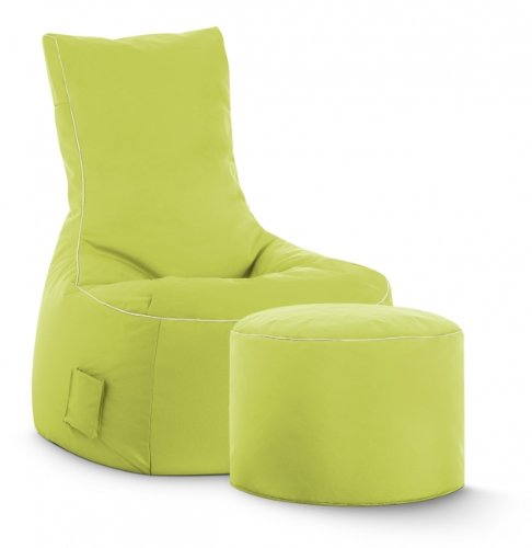 SITTING POINT only by MAGMA Sitzsack-Set Scuba Swing + Hocker grün