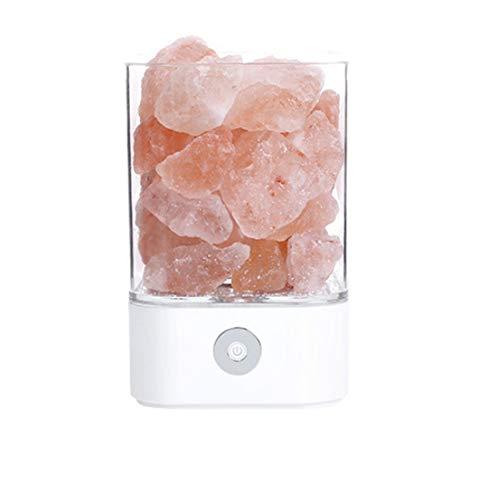 XYRONG Nachtlicht, Himalaya-Salzlampe, Litchi Natural Crystal Rock 7-Farben-Salzlampe, Bonsai-Design und Touch-Helligkeit Dimmbare Steuerung, Nachttischlampe Schlafzimmer Kreatives Geschenk (Weiß) - Himalaya-natural Rock