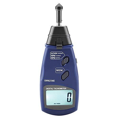 Digitaler Tachometer, großer digitaler LCD-Bildschirm Mehrzweck-Drehzahlmesser mit Kontaktmessung und Datenspeicher für die Industrie