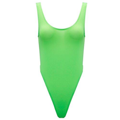 iEFiEL Damen Body Achselhemd Lingerie Stretch Unterhemd Shirt Bodysuit Trikot Body Einteiliger Nachtwäsche Grün