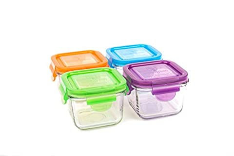 Wean Green Les Cubes Snack Jardin Sets de Conteneurs Alimentaires