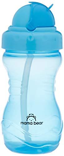 Amazon Brand - Mama Bear Straw Sipper Cup, Blue, 380 ml