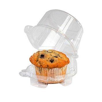 MT Products Single Serve Einzelne Plastik Cupcake/Muffin Container Haustier, 2