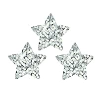 200 x Silver Stars Sparkle Stickers