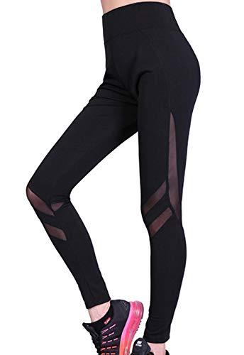 849c40e0b1f0a FITTOO Legging de Sport Femme Pantalon Yoga Collant Tulle Sexy Taille Haute  Amincissant pour Fitness Course