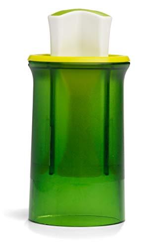 Chef'n Gemüseteiler SNACK SLICER, Zerkleinerer für Gemüse und Obst, Klingen aus Edelstahl (Farbe: Grün), Menge: 1 Stück