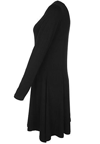 Blaumax -  Vestito  - linea ad a - Maniche lunghe  - Donna Black