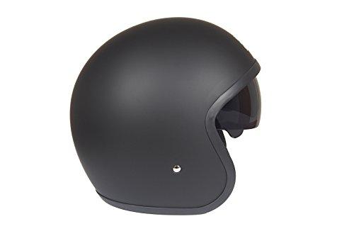 Römer Helmets Motorradhelm Custom, Matt Schwarz, Größe L - 4