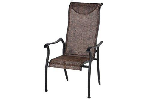 Hartman Stapelsessel Palermo, Gartensessel in Bronze, Garten-Stuhl aus Aluminium Alu, Stapelstuhl...