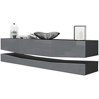 lowboard h ngend grau. Black Bedroom Furniture Sets. Home Design Ideas