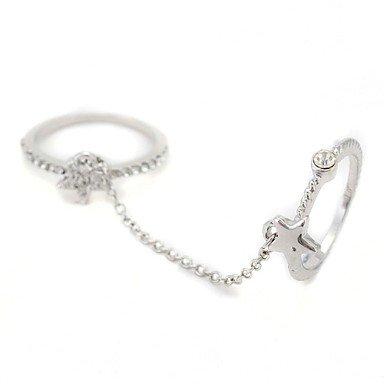 Diamond Women's Chain Ring(Color Random, Random Size)