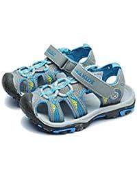 online retailer 90072 2ed84 Wasnton Sandales à Bout fermé pour Enfants Velcro Sports de Plein air  Sandales de randonnée Chaussures