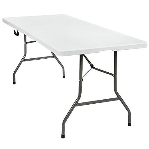 TecTake Table pliable de camping et jardin portable avec poignée 183x76x74cm