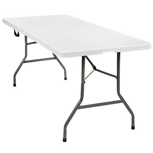 TecTake Table pliante de camping jardin BBQ barbecue pique-nique portable en aluminium (183 x 76 x 74cm | no. 402153)