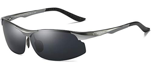e93d66f9144 WHCREAT Conducción De Gafas De Sol Polarizadas Para Hombre Sports Fishing  Marco De Metal Ultraligero Al