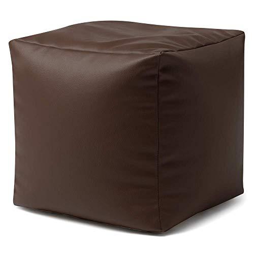 Bean Bag Bazaar Cubo Puf de Piel Sintético - Escabel - 38cm x 38cm, P