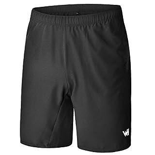WHCREAT Short de Course pour Homme avec Poches Zippées pour L'entraînement Sportif L