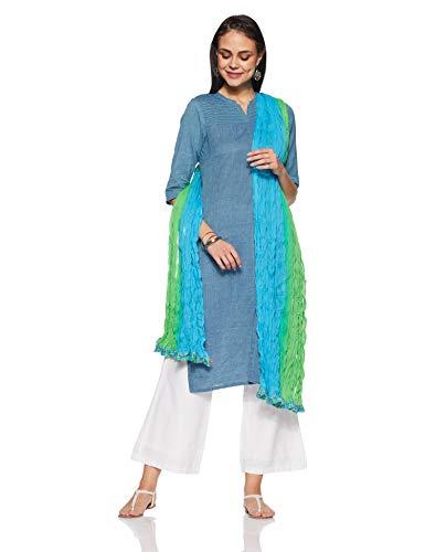 BIBA Cotton Dupatta (ENCHANTE12689_green_one size)