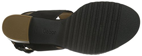 Gabor - Gabor Comfort, Sandali Donna Schwarz (47 schwarz(S.s/c A.c))