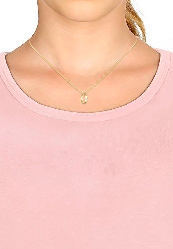 Elli PREMIUM Anhänger Kinder Taufring mit Diamant (0.01 ct.) in 585 Gelbgold