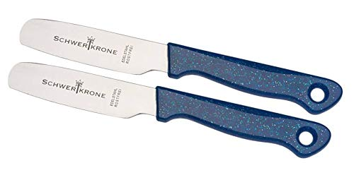 Schwertkrone 2er Set Brötchenmesser Brotzeitmesser Frühstücksmesser Messer Tafelmesser rostfrei gezahnt