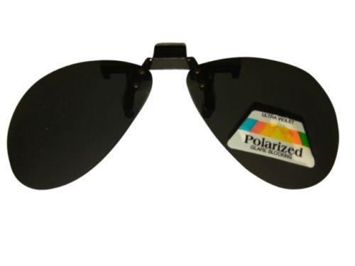 Clip auf Flip Up Aviator Sonnenbrille Polarisierte Polarisiert Glare Block Dark Lens 25