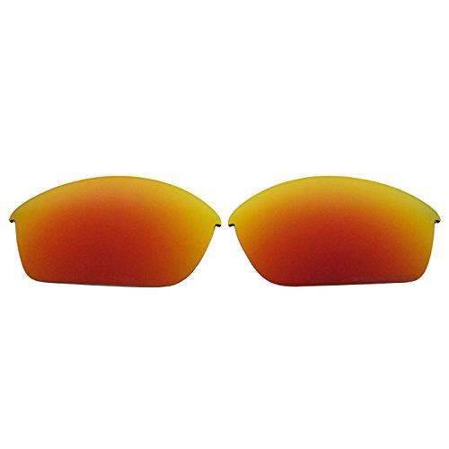 COODY Ersatz Polarisierte Gläser für Oakley Flak Jacket Sonnenbrille (Nicht Fit Flak Jacket XLJ, Flak 2.0), Unisex, Fire Red Mirror