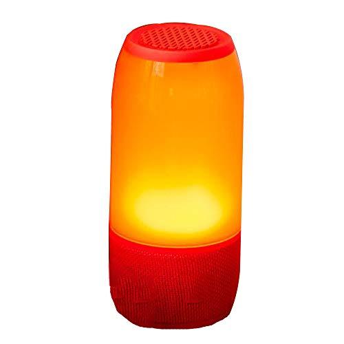 JYMDH Smart Light Lautsprecher, LED Nachtlicht mit Bluetooth-Lautsprecher Dimmbare Touch Nachtlicht USB Ladegerät Stimmungslicht mit 7 Farbwechsel für Kinder,Red