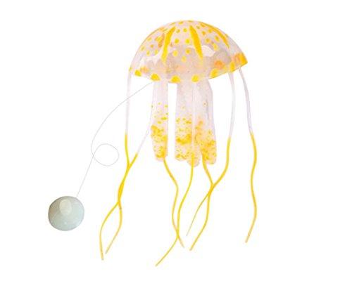 Ruichy Small Size Luminous k¨¹nstliche Quallen f¨¹r Aquarium Ornament, Orange (Quallen Orange)